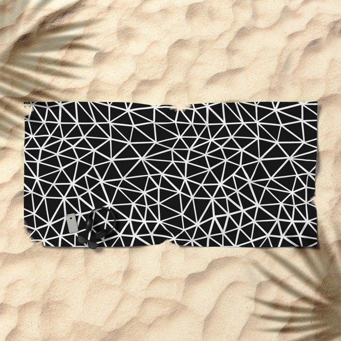 Seg R Black Beach Towel