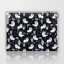 Ghost Cats in the Cemetery Laptop & iPad Skin