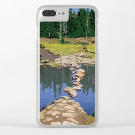 Rock Lake Version 2 Clear iPhone Case