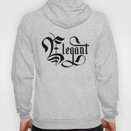 Elegant Lettering Gothic Hoody