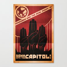 Down With The Capitol - Propaganda Canvas Print