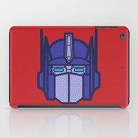 optimus prime iPad Cases featuring Optimus Prime by M. Gulin