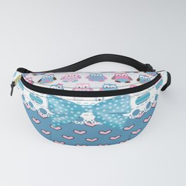 Girly Owls Always Love You Fanny Pack