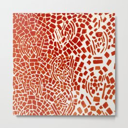 Alma Thomas, Untitled (Music Series), Red Roses & Musical Notes African American portrait painting Metal Print