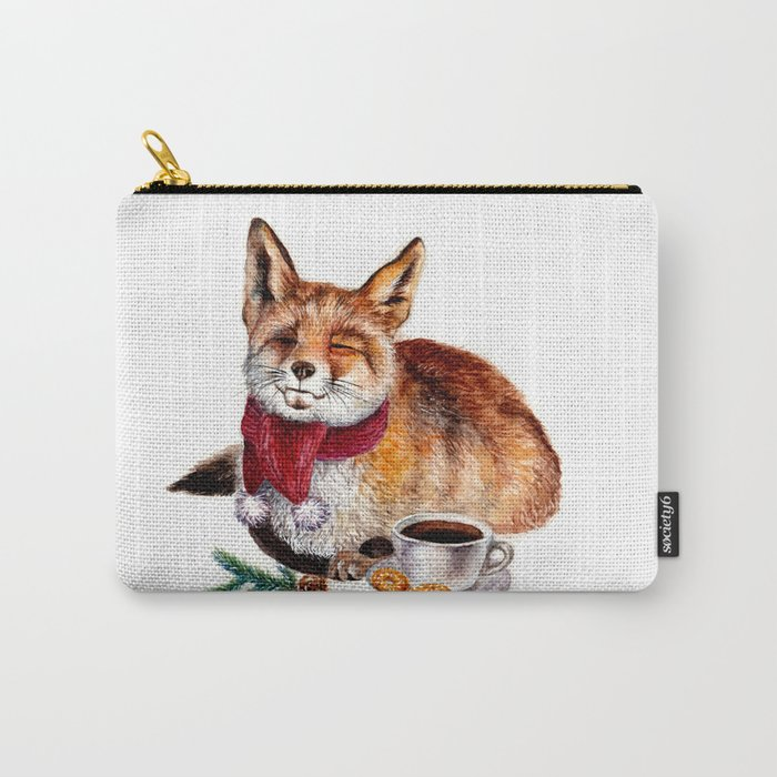 Coffee Fox Carry-All Pouch