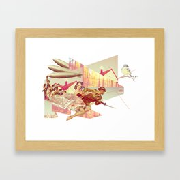 Lets All Fight! Framed Art Print