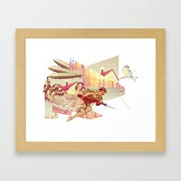 Lets All Fight! Framed Art Print