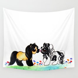 Ponies in Love Wall Tapestry