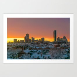 Moments Before Darkness in Boston's South End Art Print