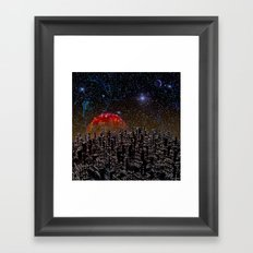 Blood Moon Rising Framed Art Print