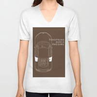 audi V-neck T-shirts featuring Vorsprung Durch Awesome by Salmanorguk