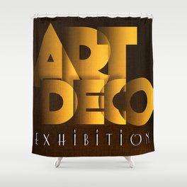 Art Deco Exhibition Poster Shower Curtain