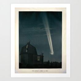 The great comet of 1881 Étienne Léopold Trouvelot Kunstdrucke