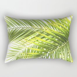 Palm leaves tropical illustration Rectangular Pillow