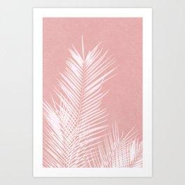 Palm Leaves on Pink II Art Print