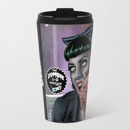 """DEAD GIRL SUPERSTAR """"RETURN OF THE BRAIN-EATERS"""" Travel Mug"""
