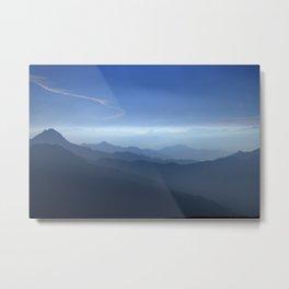 Blue dreams. Misty mountains Metal Print