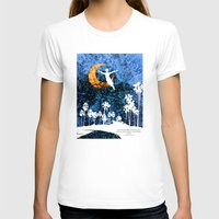 neverland T-shirts featuring Peter Pan flying through Neverland by Chien-Yu Peng