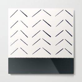 MOD_BrokenArrowonBlock_Charcoal Metal Print
