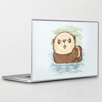 otter Laptop & iPad Skins featuring Sea otter by Toru Sanogawa