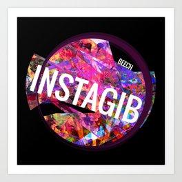 INSTAGIB Album Cover Art Print