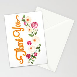 Floral Thanks Stationery Cards