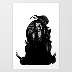 leonardo black and white Art Print