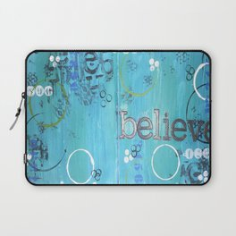 Believe Blue Laptop Sleeve