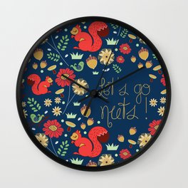 Let's go nuts! - Surface Pattern Design - ByBeck Wall Clock
