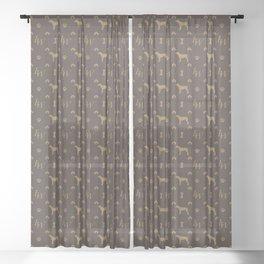 Louis Weim Luxury Dog Attire Sheer Curtain