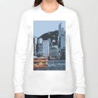 hong kong Long Sleeve T-shirts featuring Star Ferry Hong Kong by Phil Smyth