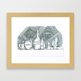 Ingredients Framed Art Print