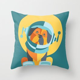 One Giant Leap for All Muttkind Throw Pillow