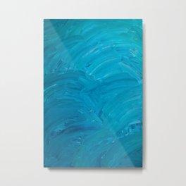 Blue Swipes Metal Print