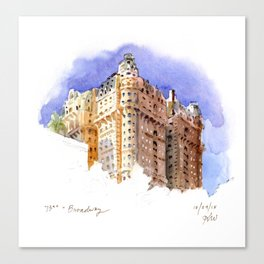 The Ansonia - 73rd and Broadway Canvas Print