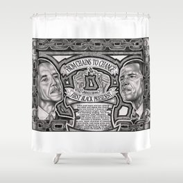 From Chains to Change Poetry by Bakari McClendon Shower Curtain