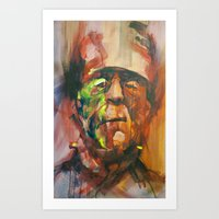 frank Art Prints featuring Frank by Jose Rivas