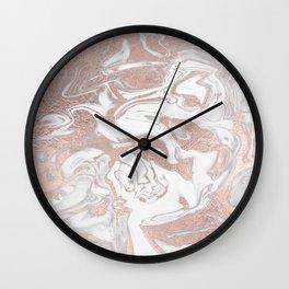 Rosegold marble Wall Clock