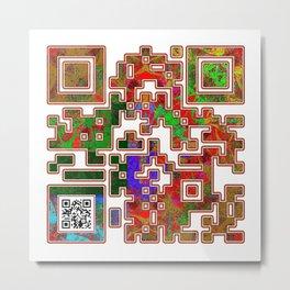 Destiny QR Code Metal Print