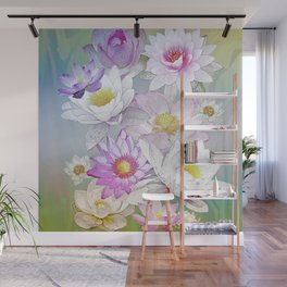 The Lotus Pond Wall Mural