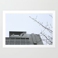 building Art Prints featuring Building by RMK Creative
