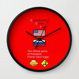 G. O. P. with President Führer Devil-Eggs Wall Clock