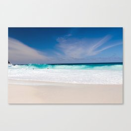 Tropical Turquoise Waves Canvas Print