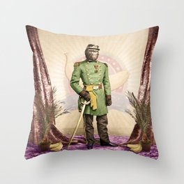 General Simian of the Glorious Banana Republic Throw Pillow
