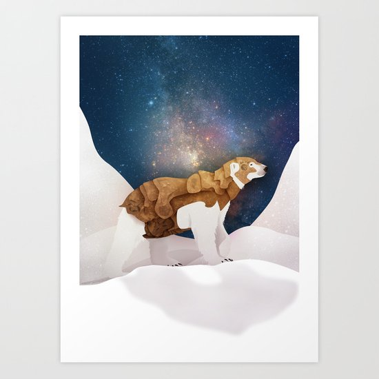 The Armored Bear Art Print