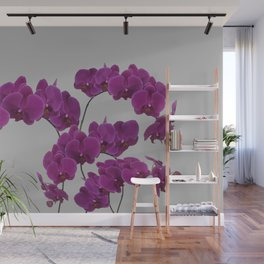 Orchid Pink Flower Wall Mural