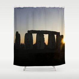 Stonehenge at Sunset Shower Curtain