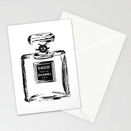 Classic Perfume bottle, Fashion Cute Minimalism Poster Stationery Cards