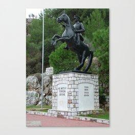 Ataturk Statue Turunc Canvas Print