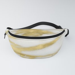 Marble - Gold Marble on White Pattern Fanny Pack